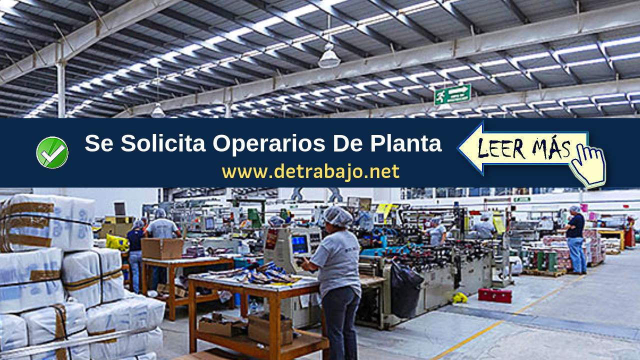 ᐈ Trabajo Para Parque Industrial oferta de empleo hoy
