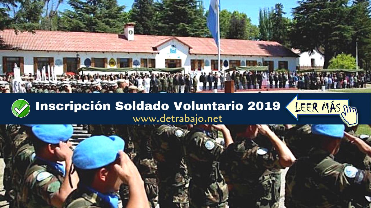 ᐈ Soldado Voluntario Sueldos de hasta $30.000 pesos【2019】