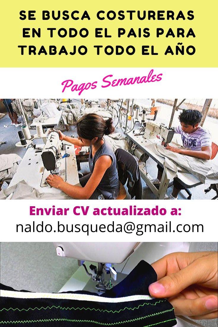 ▷ 877 vacantes Costurero/a Rectista, Collaretista, Overlockista